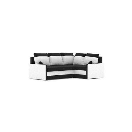Rohová rozkládací sedací souprava MILTON IV Černá/bílá