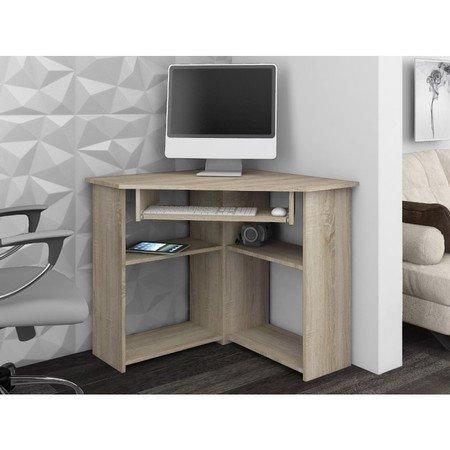 Rohový počítačový stůl TED dub sonoma