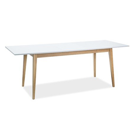 Rozkládací jídelní stůl CESAR bílý mat