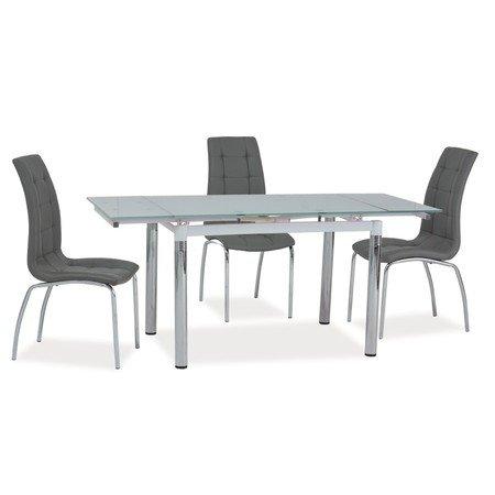 Rozkládací jídelní stůl GD018 bílý/chrom