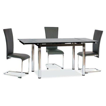 Rozkládací jídelní stůl GD018 černá/chrom