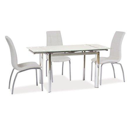 Rozkládací jídelní stůl GD019 bílý/chrom