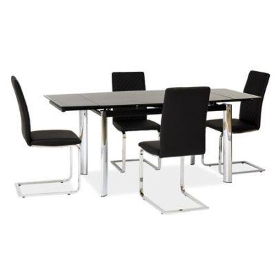 Rozkládací jídelní stůl GD020 černá/chrom