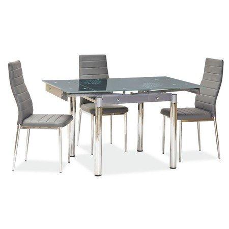 Rozkládací jídelní stůl GD082 šedá/chrom