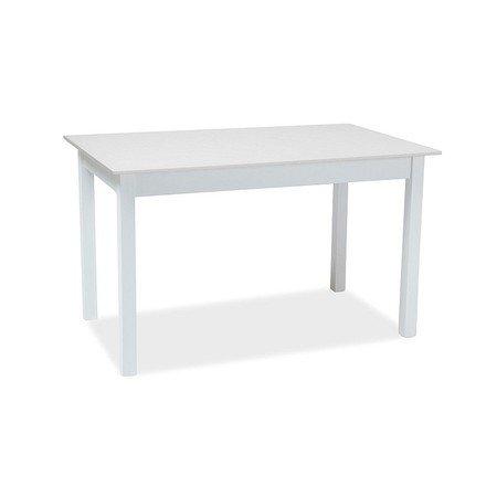 Rozkládací jídelní stůl HORACY 125x75 bílý mat