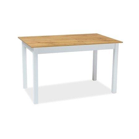 Rozkládací jídelní stůl HORACY 125x75 dub wotan/bílý mat