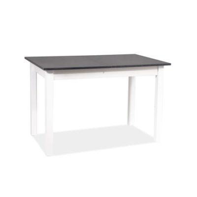 Rozkládací jídelní stůl HORACY antracit/bílý mat