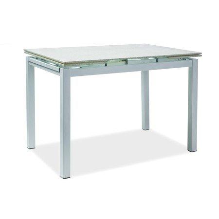 Rozkládací jídelní stůl TURIN bílý kámen/bílá