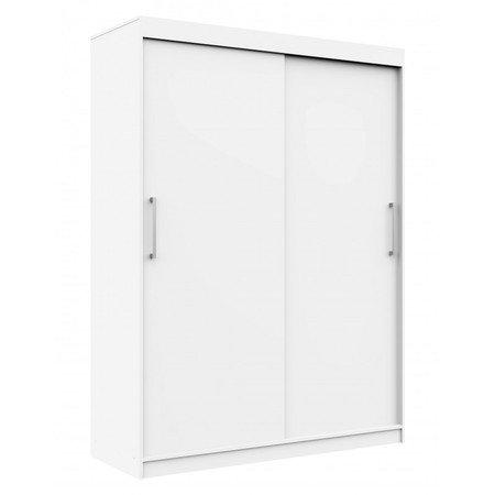 Šatní skříň posuvná 150 cm CLP MONO bílá