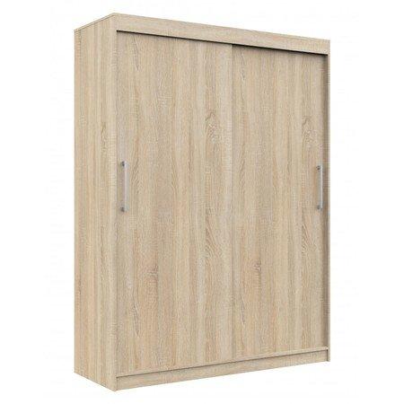 Šatní skříň posuvná 150 cm CLP MONO dub sonoma