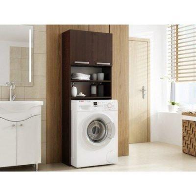 Skříňka do koupelny s možností uložení pračky wenge