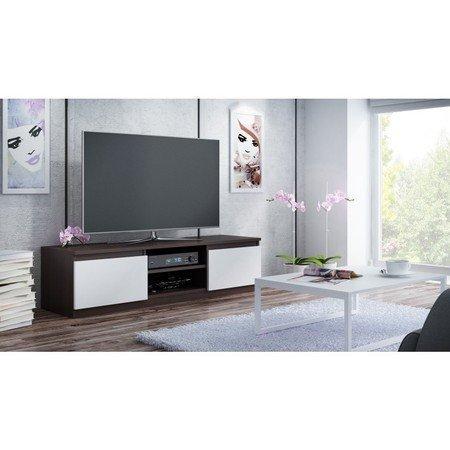 TV stolek LCD 140 cm wenge/bílá