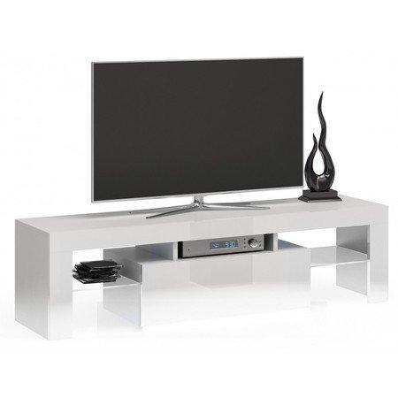 Televizní stolek RTV DEKO 140 bílý lesk