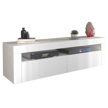 Televizní stolek RTV DEKO 2D 160 bílý lesk