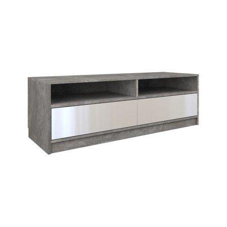 Televizní stolek RTV karo 120cm beton/bílá lesklá