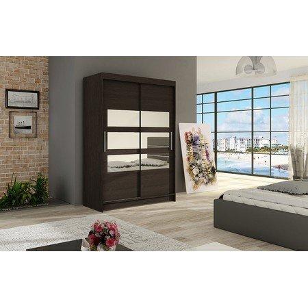 Velká šatní skříň MIAMI V čokoládová šířka 120 cm