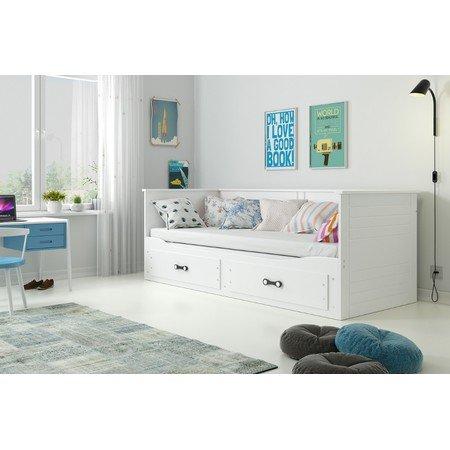 Výsuvná dětská postel HERMES bílá 200x90 cm