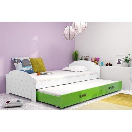 Výsuvná dětská postel LILI 200x90 cm Zelená