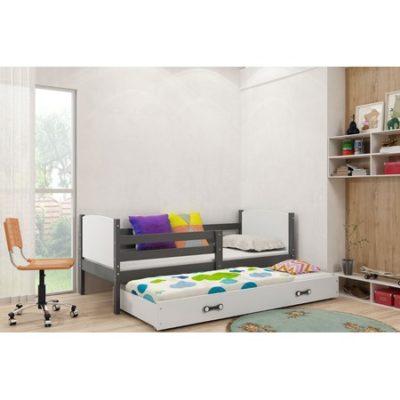 Výsuvná dětská postel TAMI 190x80 cm Bílá Borovice
