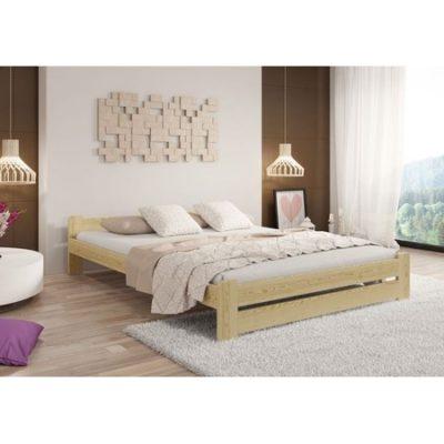 Vyvýšená masivní postel Euro 120x200 cm včetně roštu Ořech