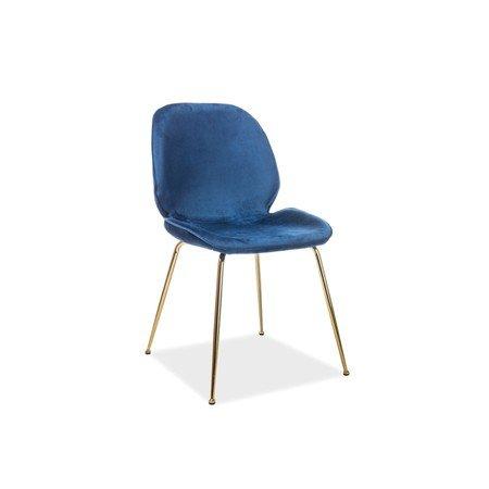 Židle ADRIEN zlatá/modrá