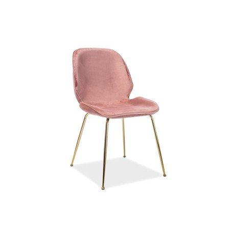 Židle ADRIEN zlatá/růžová