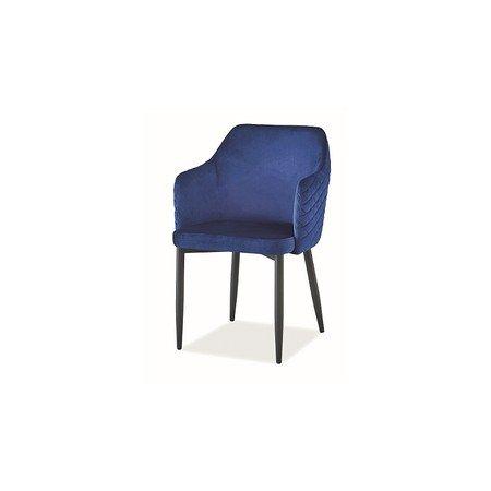 Židle ASTOR černá/modrá