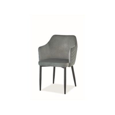 Židle ASTOR černá/šedá