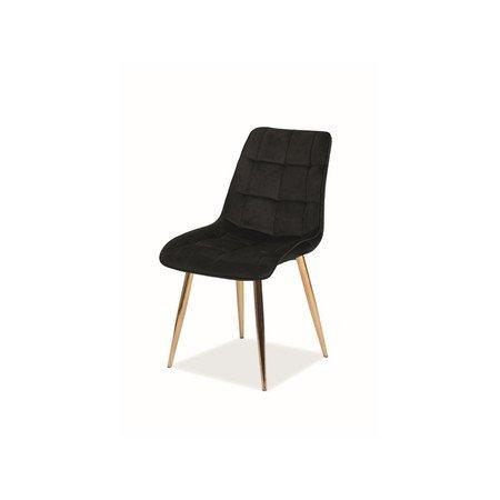 Židle CHIC zlatá/černá