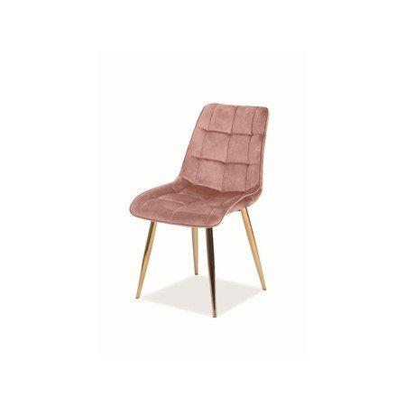 Židle CHIC zlatá/růžová