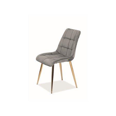 Židle CHIC zlatá/šedá