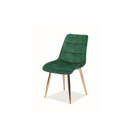 Židle CHIC zlatá/zelená