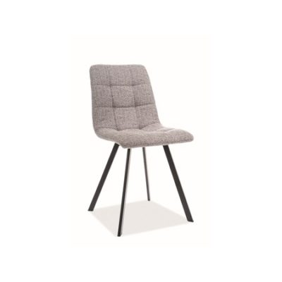 Židle CLIP černá/šedá
