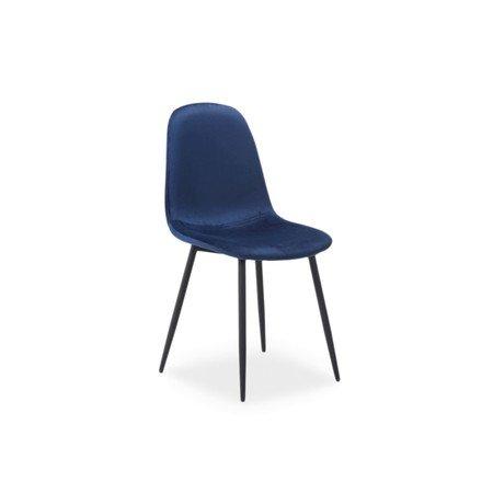 Židle FOX černá/modrá