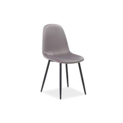 Židle FOX černá/šedá