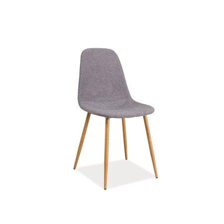 Židle FOX dub/šedá