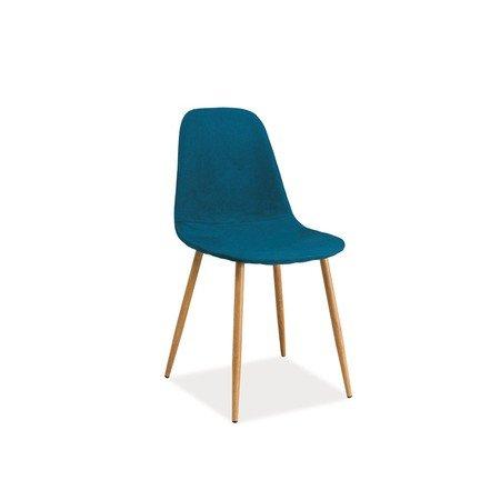 Židle FOX dub/tmavě modrá