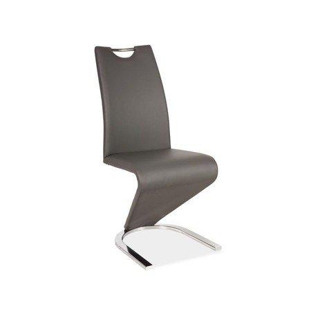Židle H090 šedá eko-kůže