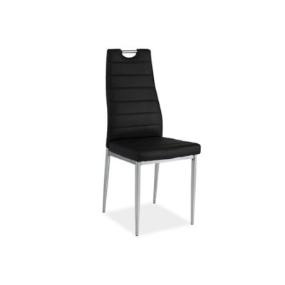 Židle H260 chrom/černá eko-kůže
