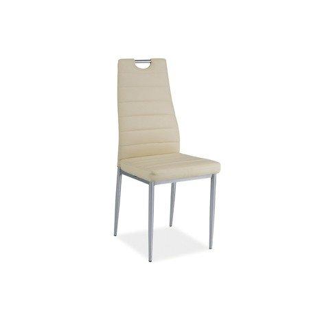Židle H260 chrom/krémová eko-kůže