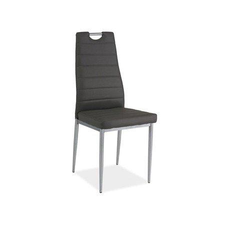 Židle H260 chrom/šedá eko-kůže