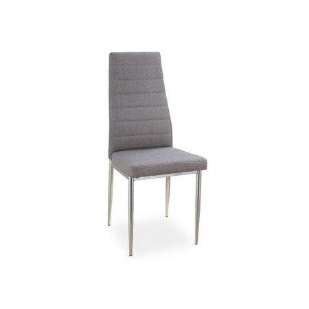 Židle H263 chrom/šedá