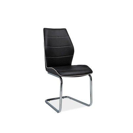 Židle H331 chrom/černá