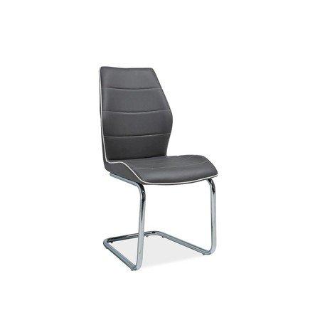 Židle H331 chrom/šedá