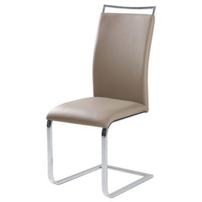 Židle H334 chrom/béžová eko-kůže