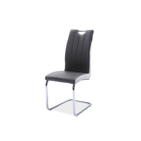 Židle H342 chrom/šedá