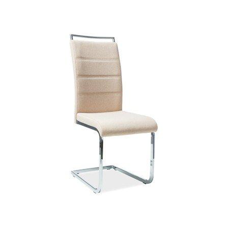Židle H441 chrom/béžová