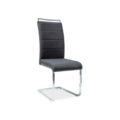 Židle H441 chrom/černá