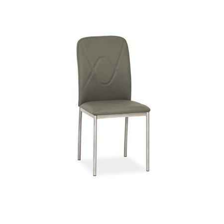 Židle H623 šedá eko-kůže