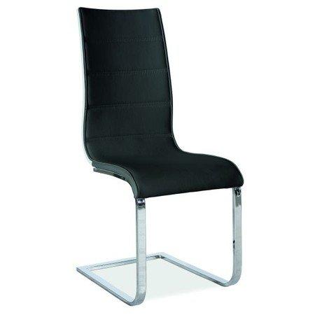 Židle H668 chrom/černá eko-kůže